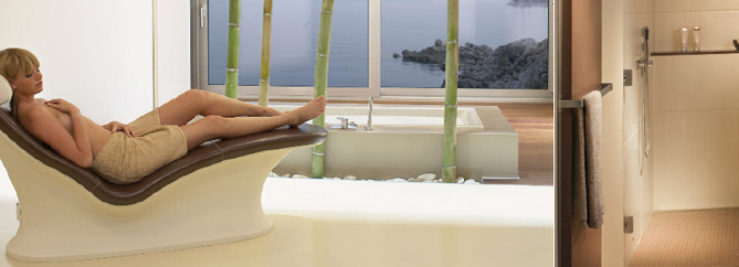 Wellnessbereich Saunalandschaften aus Naturstein