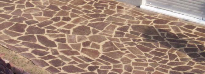 Polygonalverlegungen für die Gestaltung von mediterranen Terrassen und Wegen